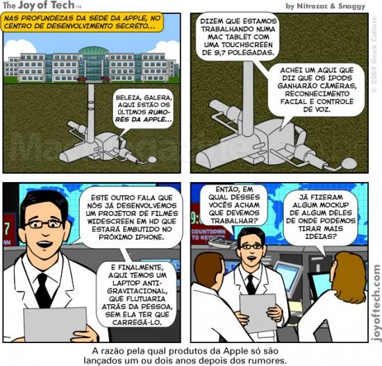 Joy of Tech - A verdade por tras dos rumores da Apple
