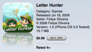 Letter Hunter na App Store