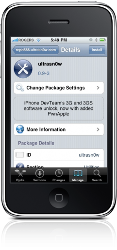 ultrasn0w 0.9 no iPhone