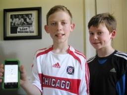 Os irmãos Owen e Finn Voohees