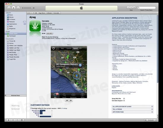 Cannabis no iTunes