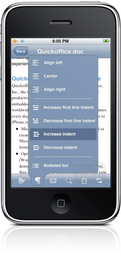 Quickoffice no iPhone