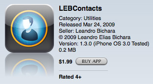 LEBContacts na App Store