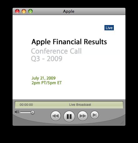 Resultados financeiros do Q3 2009