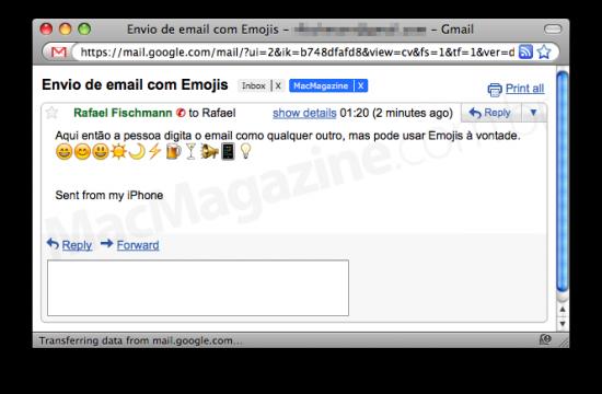 EmojiEmail no Gmail