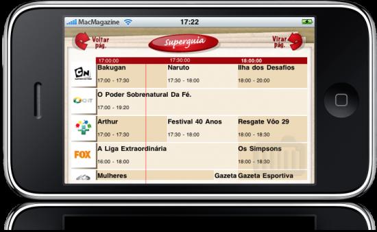 SuperGuia.TV no iPhone