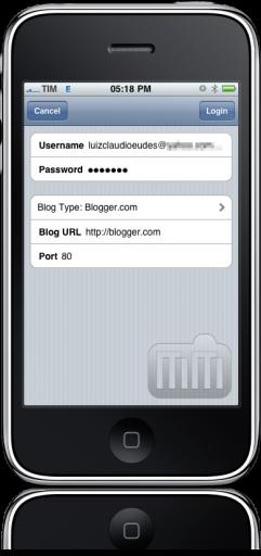 BlogWriter no iPhone