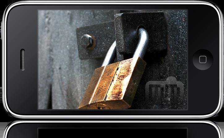 iPhone e cadeado (segurança)