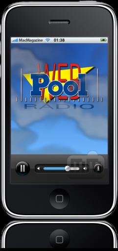 Pool Rádio no iPhone