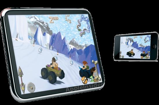 Visão artística de uma tablet da Apple (via AppleInsider)