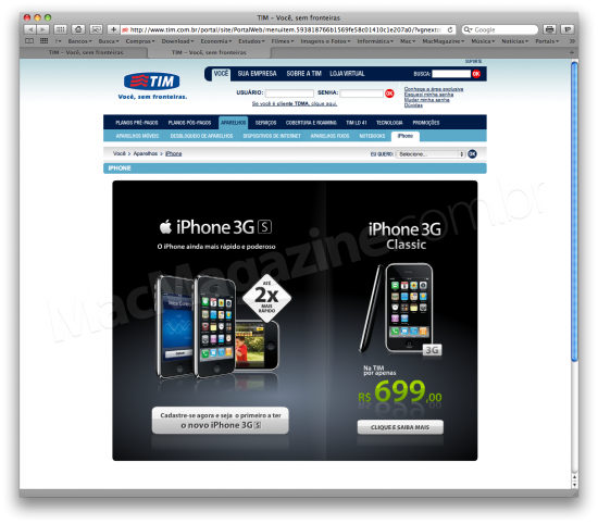 iPhone 3GS na TIM