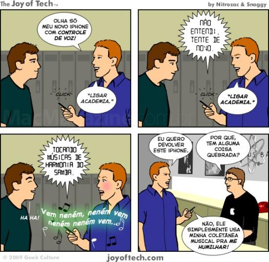 Joy of Tech - Controle de Voz malvado