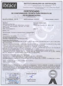Certificado da ANATEL para o A1301