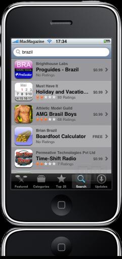 Busca na App Store por Brazil