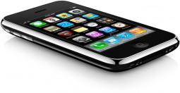 iPhone 3GS deitado, de lado