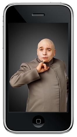 Dr. Evil no iPhone