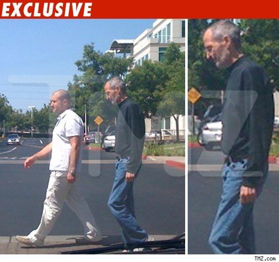 Steve Jobs pelo TMZ saindo da Apple