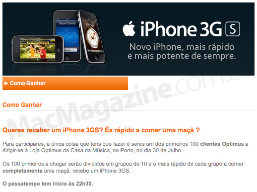iPhone 3GS na Optimus