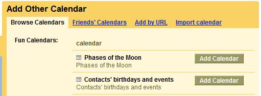 Google Calendar - Experimento Aniversario Contatos