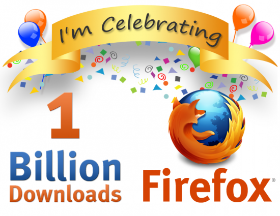 1 bilhão de downloads do Firefox