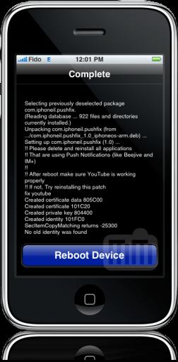 Ativando push em iPhones 2G