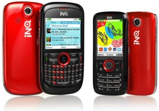Novos celulares da INQ