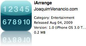 iArrange na App Store