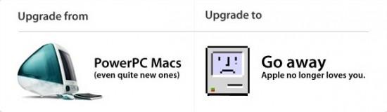 """""""Atualizando"""" o Snow Leopard num Mac PPC"""