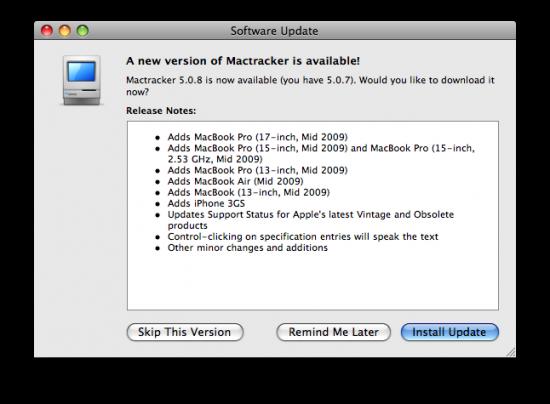 Mactracker 5.0.8