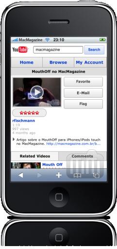 YouTube.com no iPhone