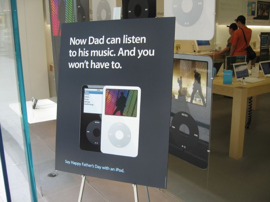 iPod no Father's Day