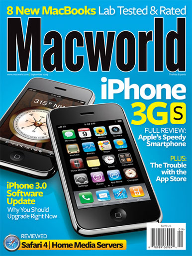 Capa da Macworld para o iPhone 3GS