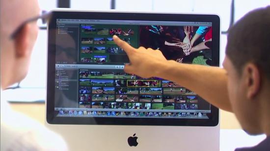 Treinamento com iMac na Appl Retail Store