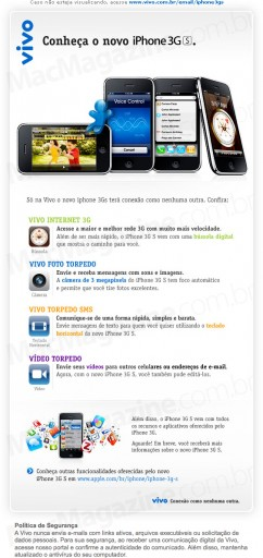Vivo sobre o iPhone 3GS