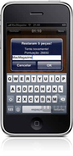 OnePeg no iPhone