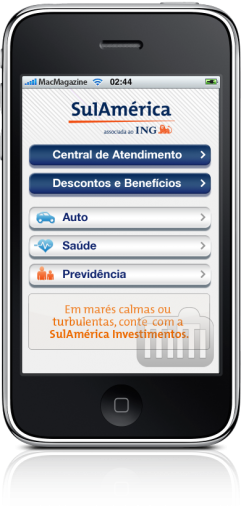 SulAmérica no iPhone
