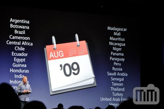 iPhone 3GS em agosto de 2009