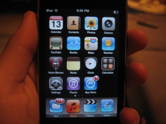 Foto vazada do iPod touch 3G