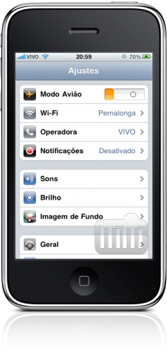 iPhone FAIL botão modo avião