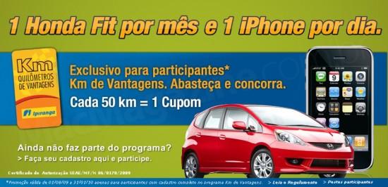 Promoção de iPhones nos postos Ipiranga