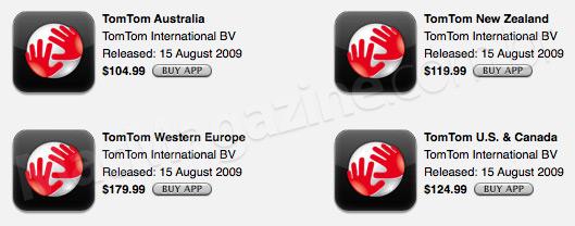 Apps da TomTom na App Store da Nova Zelândia