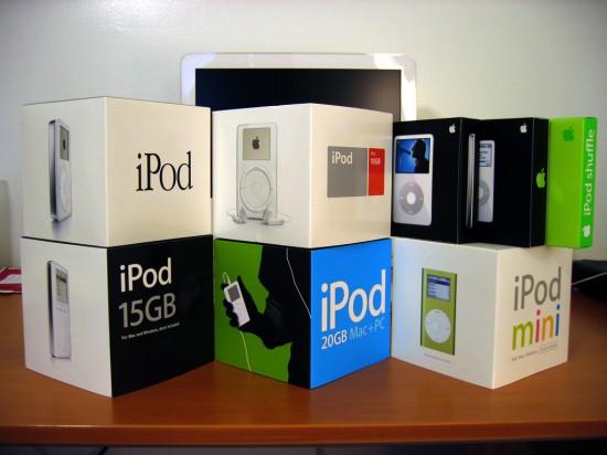 Caixas de iPods