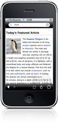 Wikipedia Mobile no iPhone
