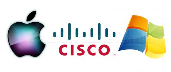 Apple Cisco Microsoft