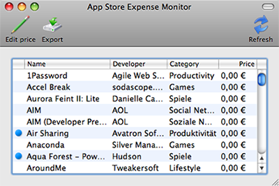 App Store Expense Monitor 2