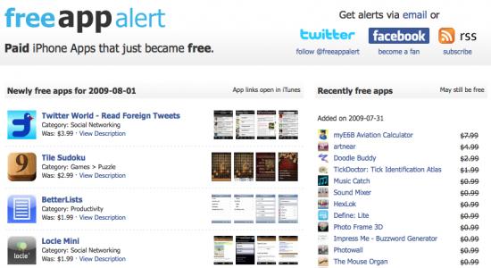 Free Apps Screenshot