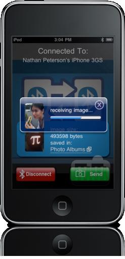 Bluetooth Photo Share no iPhone