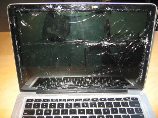 MacBook destruído de Nate Bolt