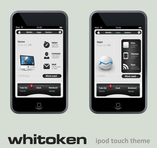 Tema Whitoken para iPod touch