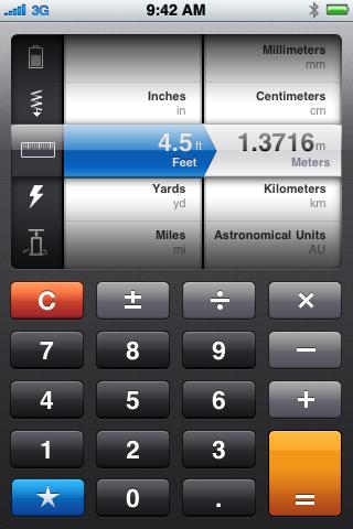 Screenshot do Convert para iPhone
